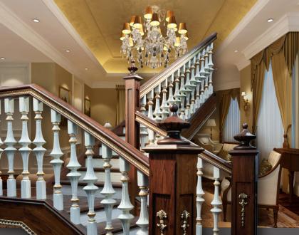 产品分类导航 珍藏豪华欧式别墅专用楼梯